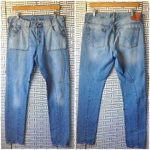 Levi Strauss 501 Altered Redone Jeans W34 L42